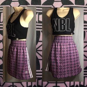 Pretty lilac 3 stripe adidas high waisted skirt